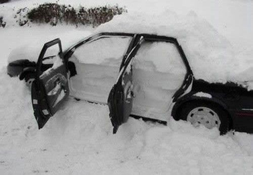 um, remember to close car windows and sunroof in winter