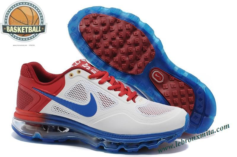new arrival b079d 14868 Nike Air Max 2013 Men White Sky Blue Red