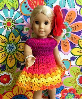 American Girl Little Flamenco Dress