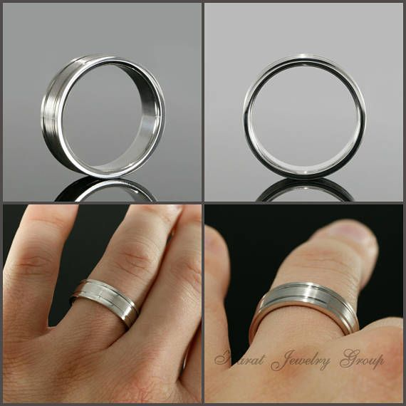 7mm Men S Comfort Fit Wedding Band High Polish And Mens Wedding