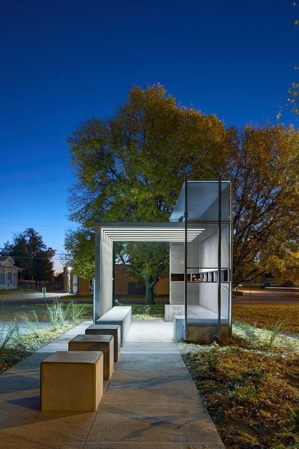 Corinthian Gardens Smokers Shelter Des Moines Iowa Residential Architect Award Winners