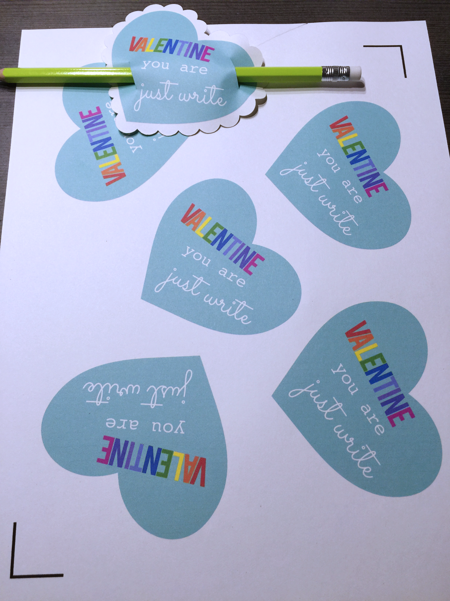 Candy Free Pencil Valentines Made With Your Silhouette Machine!