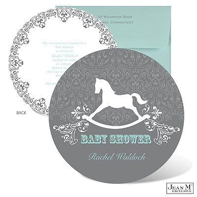 Rocking Horse Baby Shower Invitation Baby Shower Pinterest