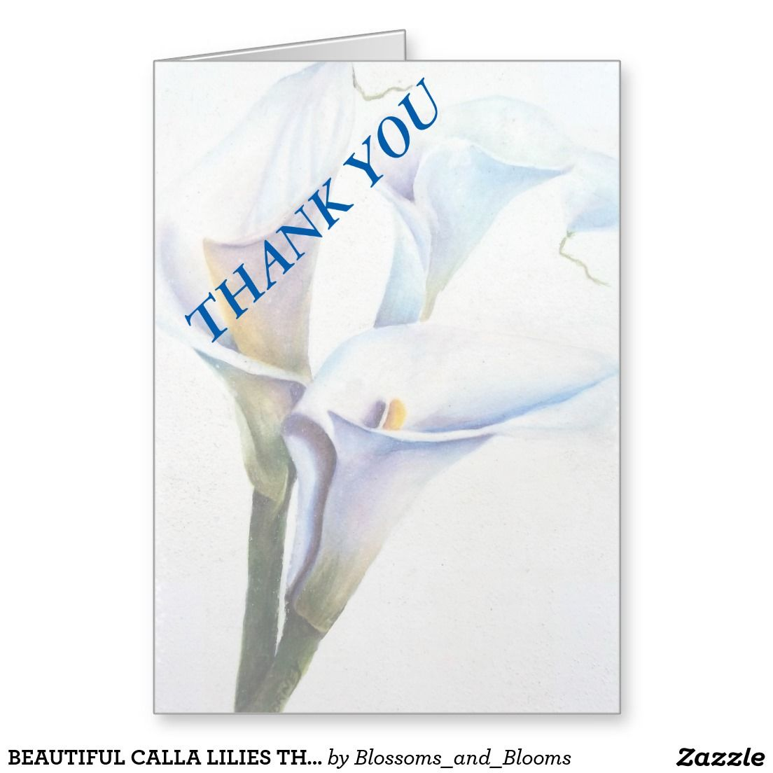 Wedding Gifts For Those Who Have Everything: BEAUTIFUL CALLA LILIES THANK YOU CARD LOVE THOSE LILIES