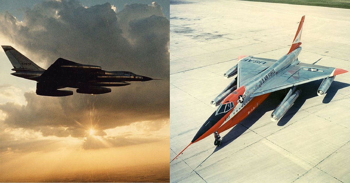 "The first supersonic jet bomber: B-58 ""Hustler"""