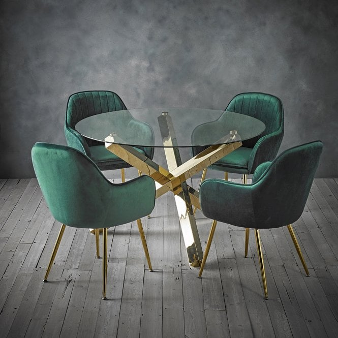 Lara Forest Green Dining Chair Lpd Furniture Leader Stores