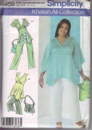 Simplicity Sewing Pattern 4556 Khaliah Ali Plus Size Gg 26w 32w