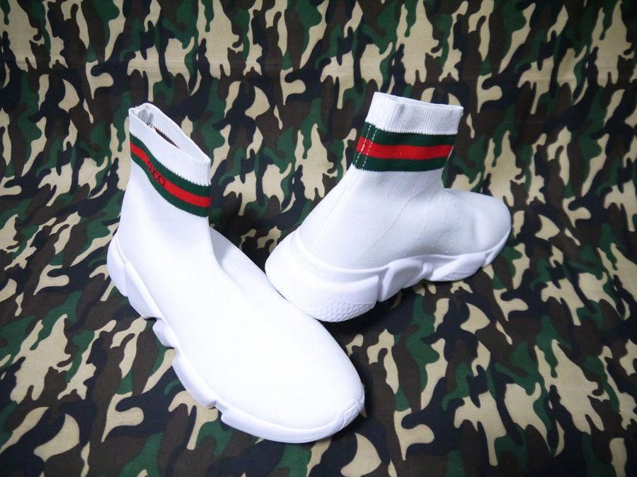 80a1b2263e3 Men's Athletic Sneakers Gucci x Balenciaga Speed Trainer Sock 'WHITE ...