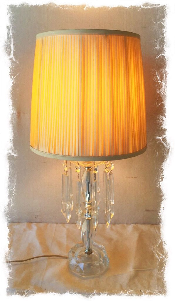 Vintage Crystal Table Lamp With Hanging Crystals 65 Lamps