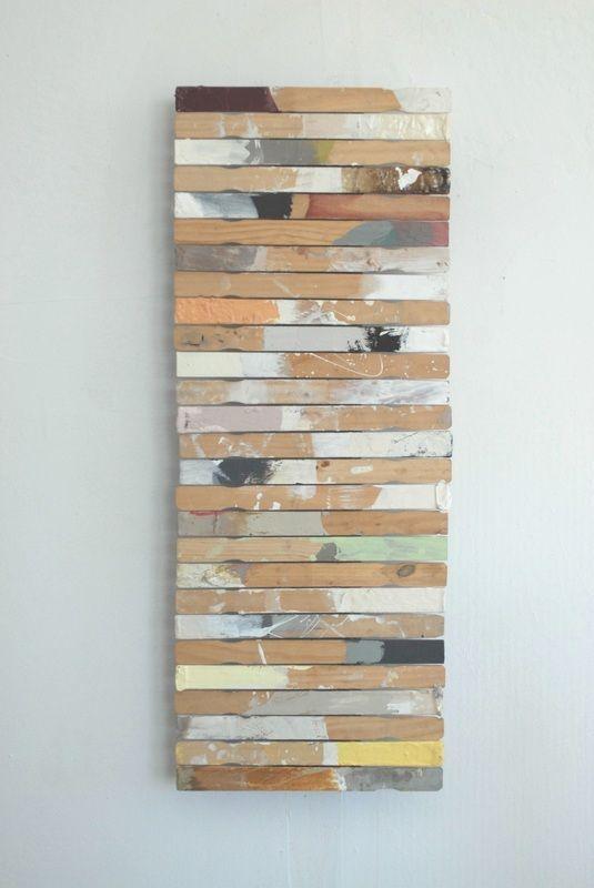 Wall Art From Paint Stir Sticks Fun Things Repurposed Paint
