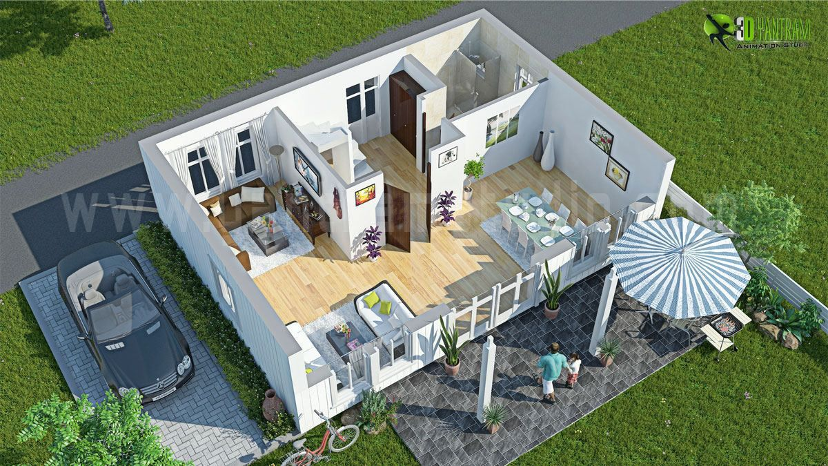 House  3D Floor Plan Design Interactive Yantram Studio
