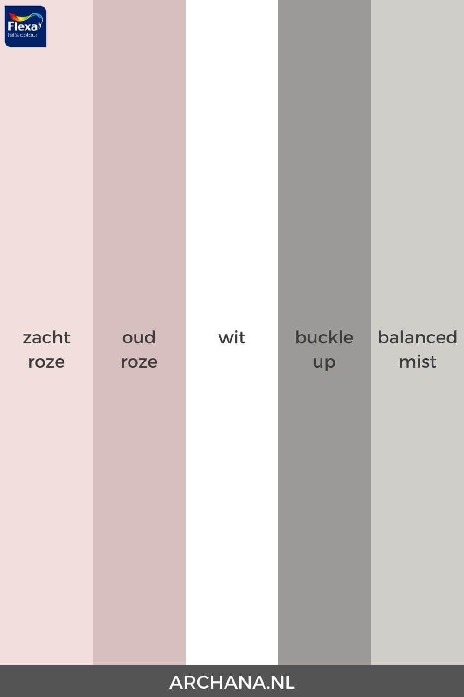 10 ideeën voor een slaapkamer met wit, roze en gri