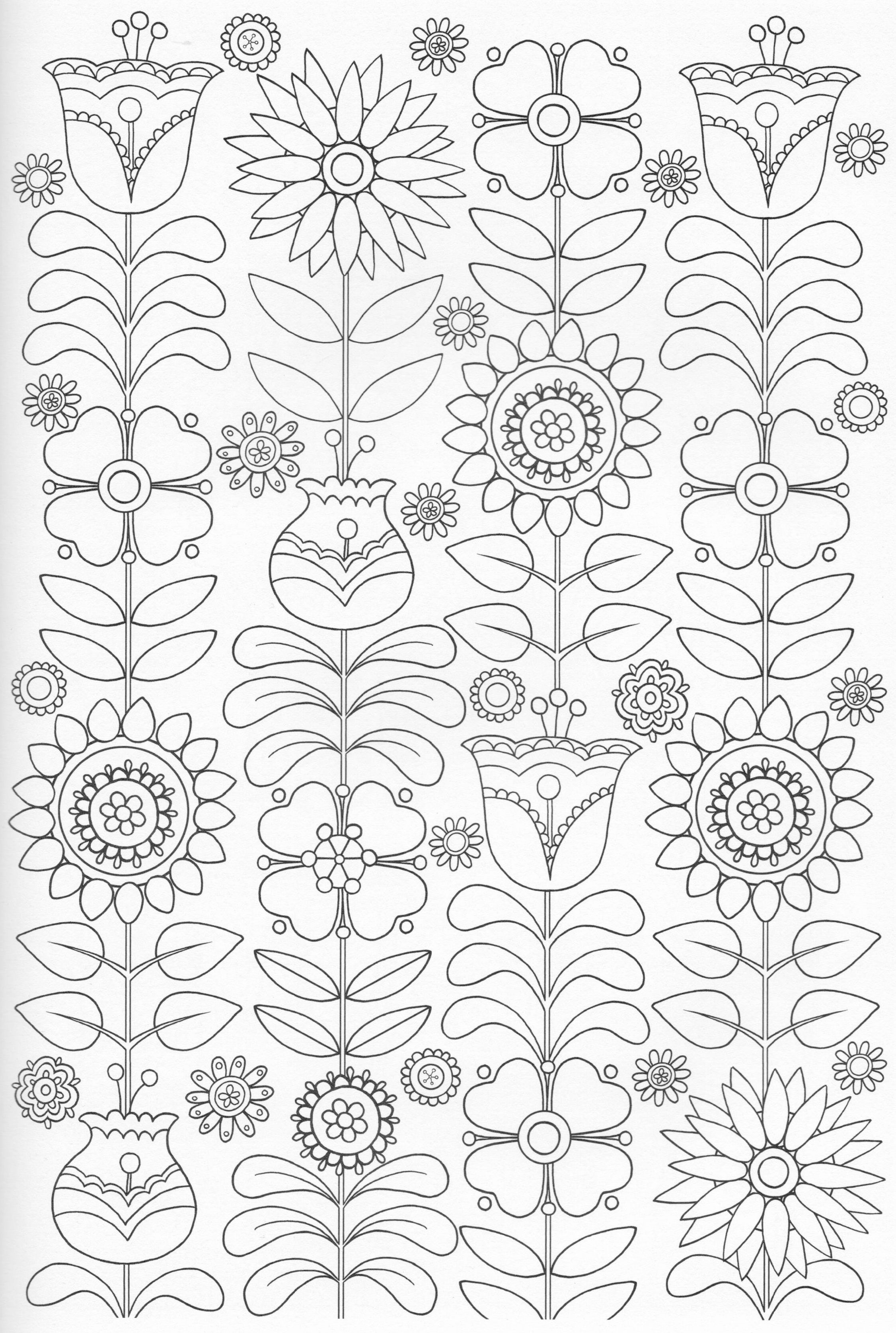 Scandinavian Coloring Book Pg 47 | coloring | Pinterest | Bordado ...