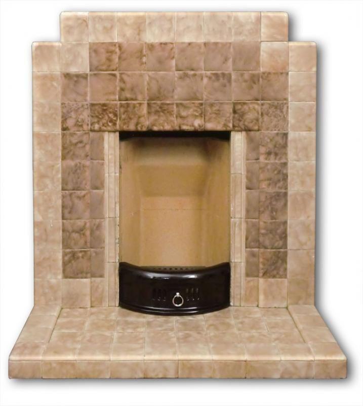 1937 Tiled Fireplace Fireplace Tile Fireplace 1930s Living Room