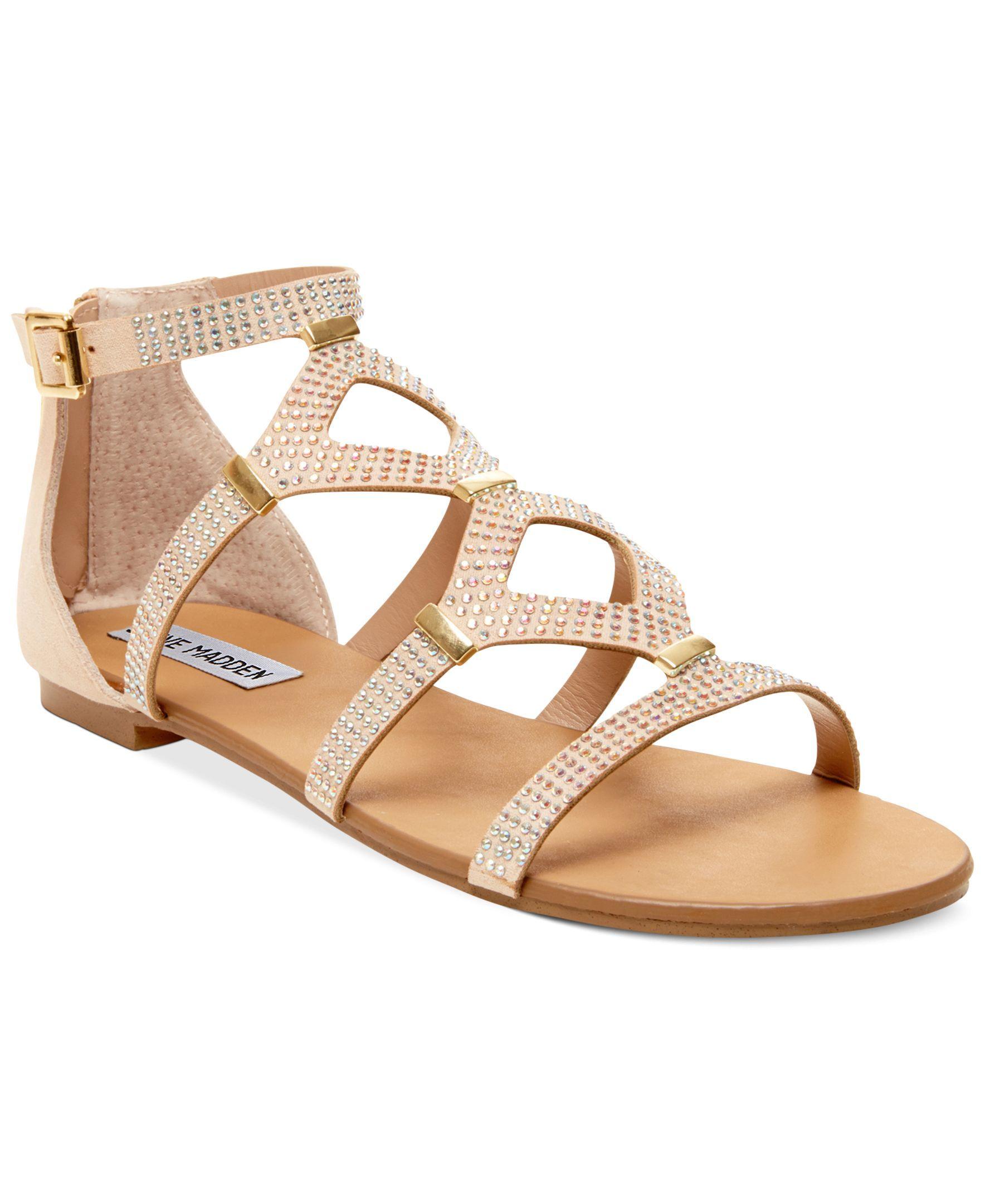 Steve Madden Women's Castel Embellished Flat Sandals