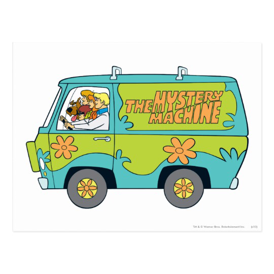 The Mystery Machine Left Side Postcard Zazzle Com Scooby Doo Mystery Incorporated Van Drawing Halloween Cartoons