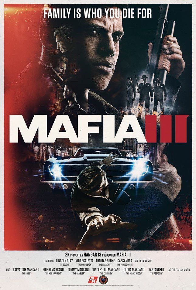 Mafia 3 Official Exclusive Video Game Release Poster | YaDiGGiT