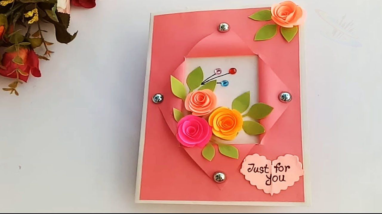 Surprising Beautiful Handmade Birthday Card Birthday Card Idea Youtube Funny Birthday Cards Online Fluifree Goldxyz