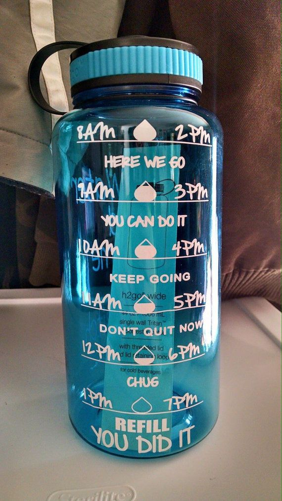 Water Intake Tracker Decal ***DECAL ONLY*** Water bottles