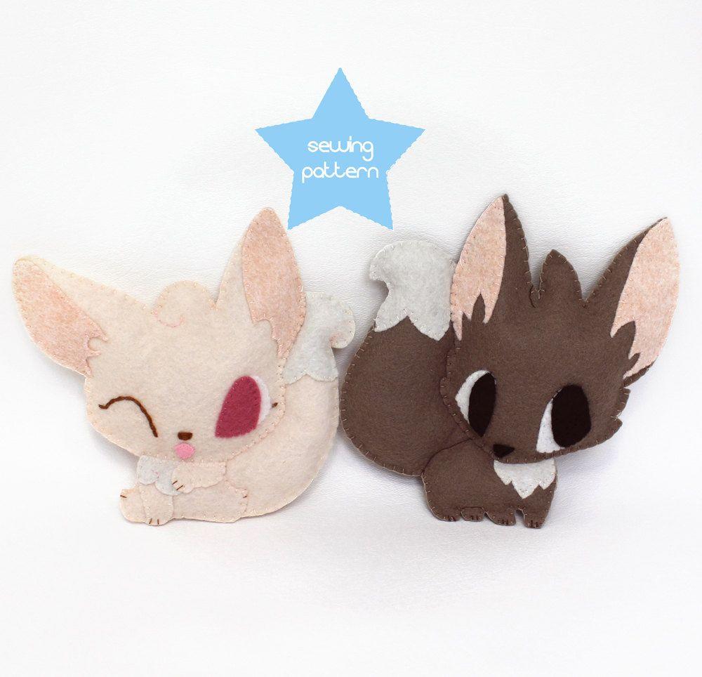 PDF sewing patterns - Fennec Fox stuffed animals - easy beginner DIY ...