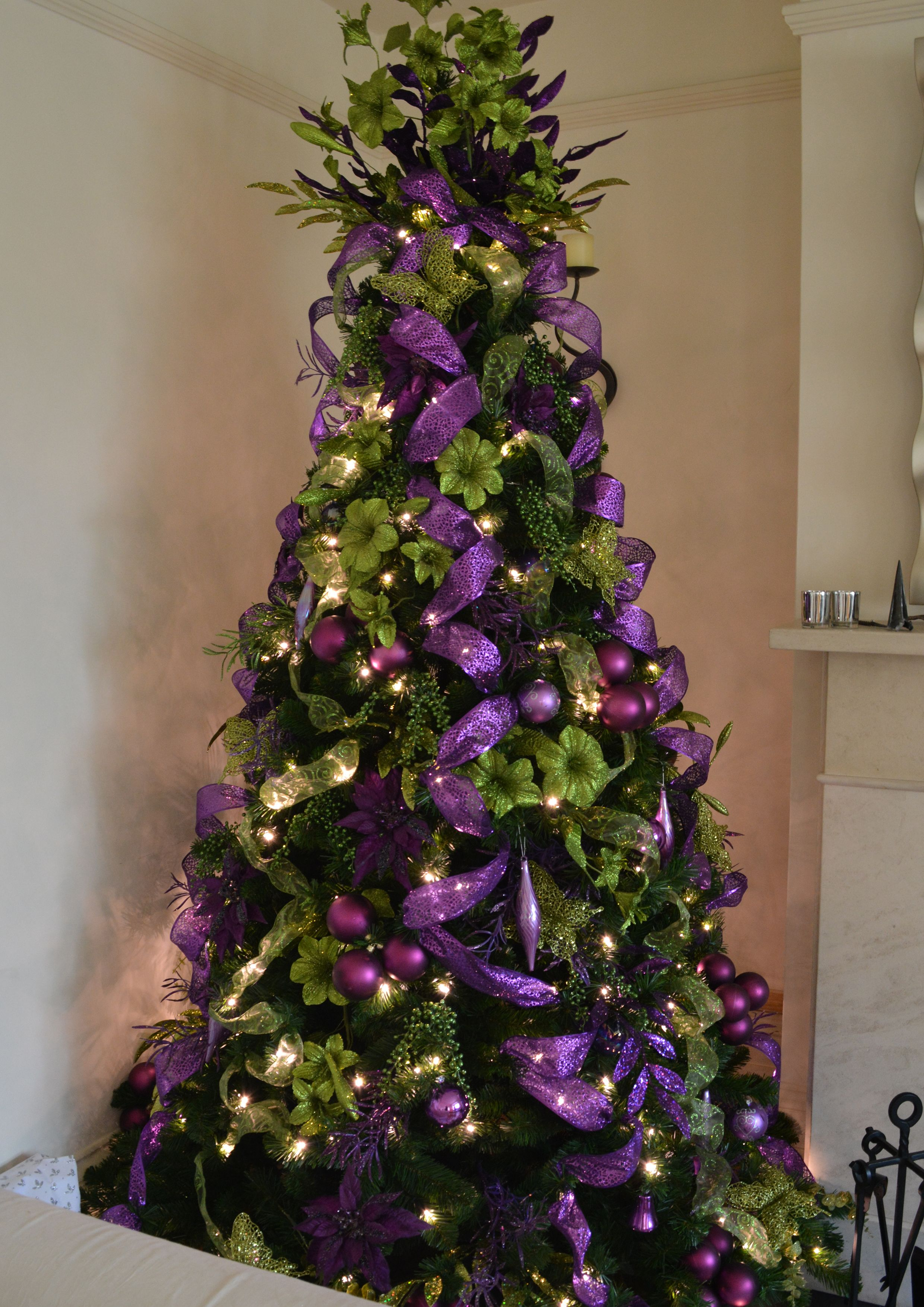 Purple and Green Christmas Tree: Christmas Decorators ...  Christmas Trees Decorated Purple
