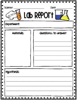 science report template grade 3