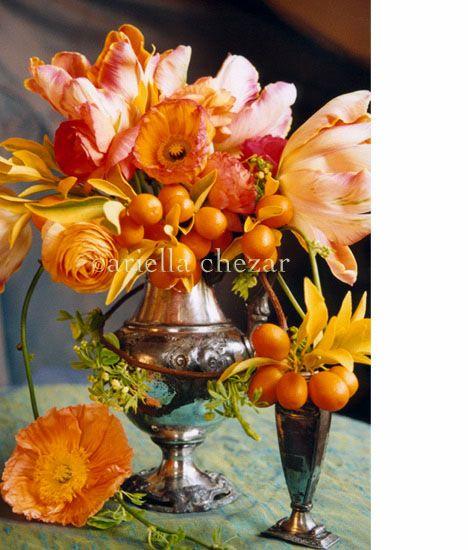 flowers with kumquats