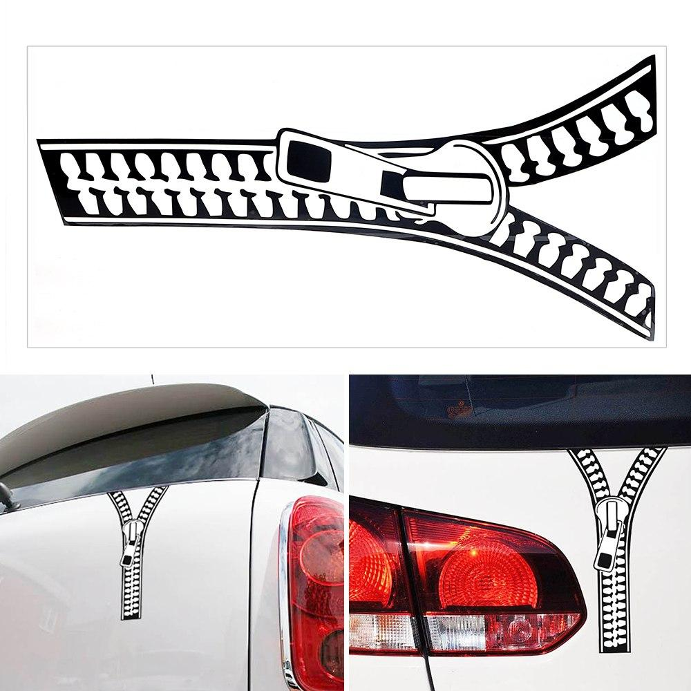 Funny zipper vinyl car sticker 100 brand new and easy to