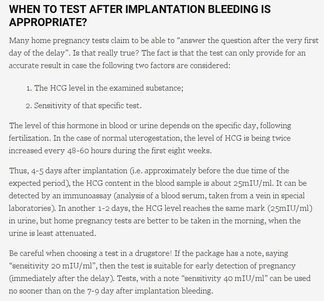 How long after implantation bleeding can you tell if youre pregnant