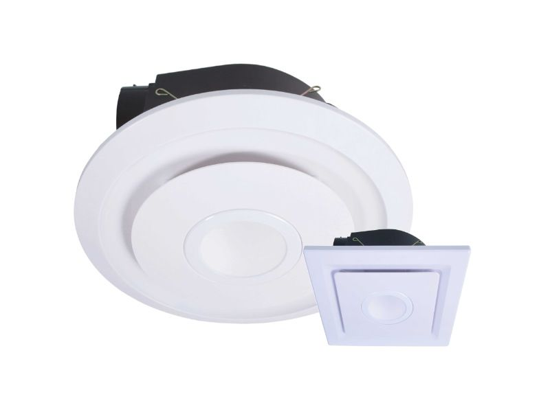 Emelineled245Mmexhaustfanwithlightroundorsquaresmall Simple Small Fan For Bathroom Decorating Inspiration