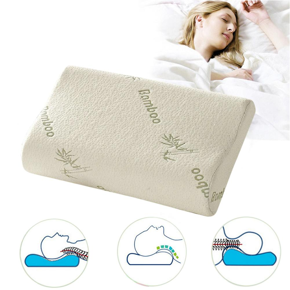 of for foam bamboo neck super hypoallergenic pain pillow memory bed