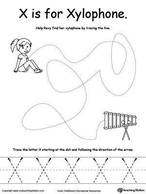 Early Childhood Pre Writing Worksheets Preschool Tracing Letter X Crafts Preschool Writing Pre k letter x worksheet