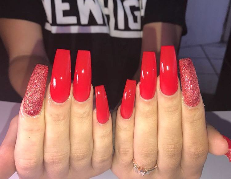 Follow For More Popping Pins Pinterest Bbydollm Square Acrylic Nails Long Square Acrylic Nails Long Red Nails