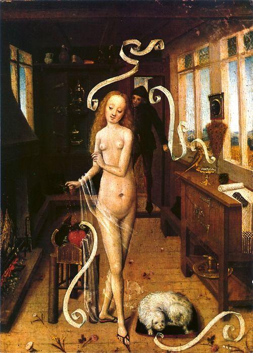"""La pintura más bonita del mundo: """"Hechizo de Amor"""" ( 'Liebeszauber') c.1470, Anónimo. Museo de Leipzig ♥"""