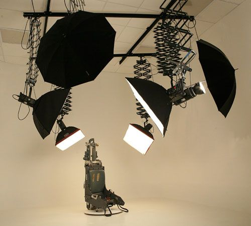 Studio Lighting Website: Ceiling Mounted Photo Studio Lighting