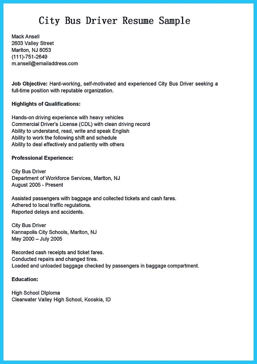 Cdl Class B Resume Examples Scheduled Resume Resume No