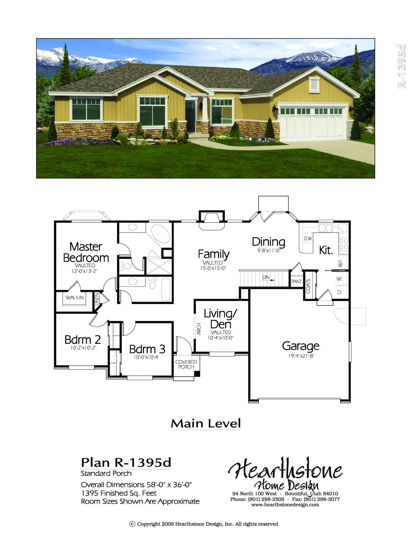 R 1395d Hearthstone Home Design House Blueprints Sims House Plans New House Plans
