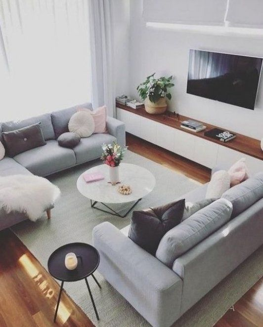 Skandinavische Ideen graues Wohnzimmer gem tliche Wohnzimmerdekore