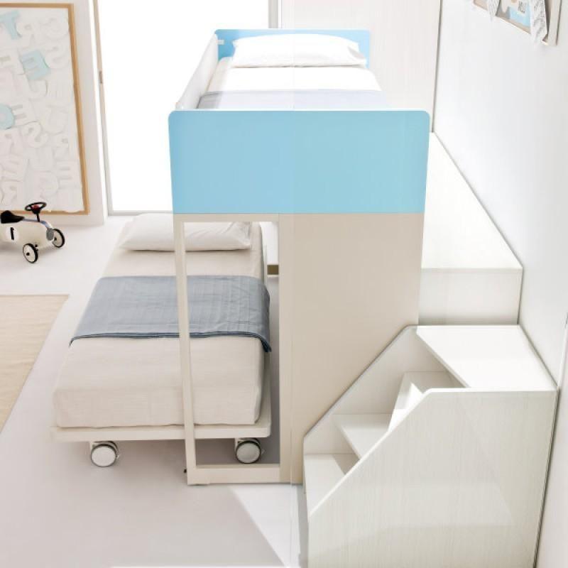 Adorable Kids Bedroom Interior Design With Cool Trundle Bed Frame ...