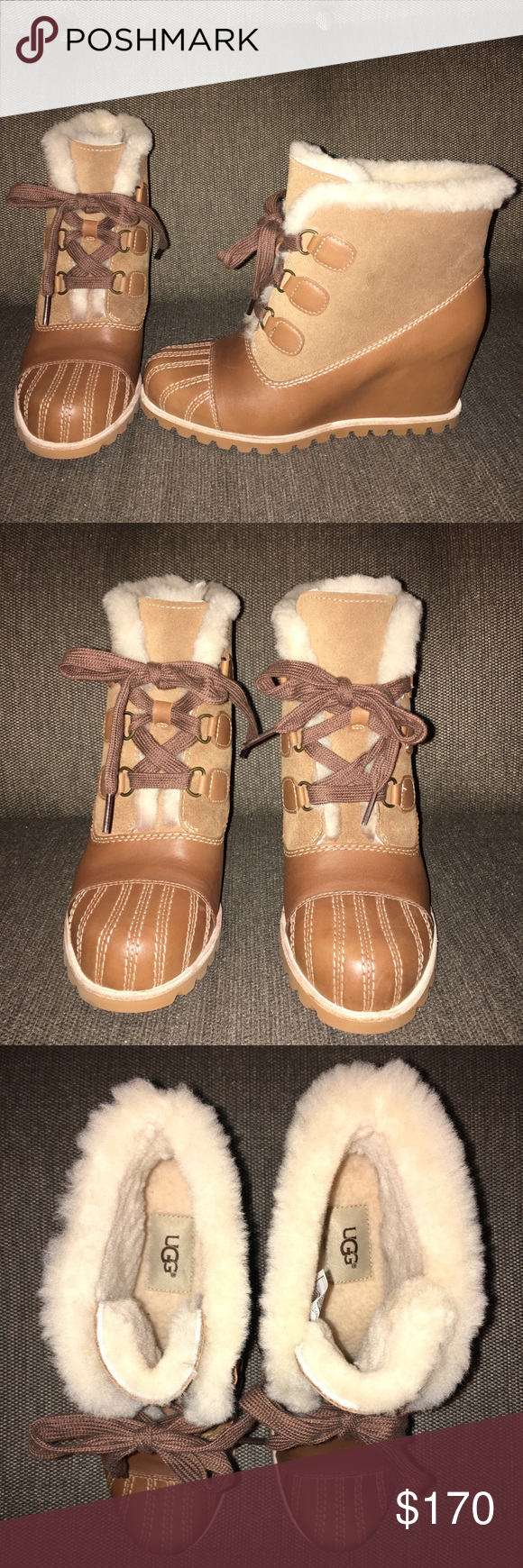3b992e6a2c0 New Ugg Alasdair Waterproof Chestnut wedge boots New without box Ugg ...