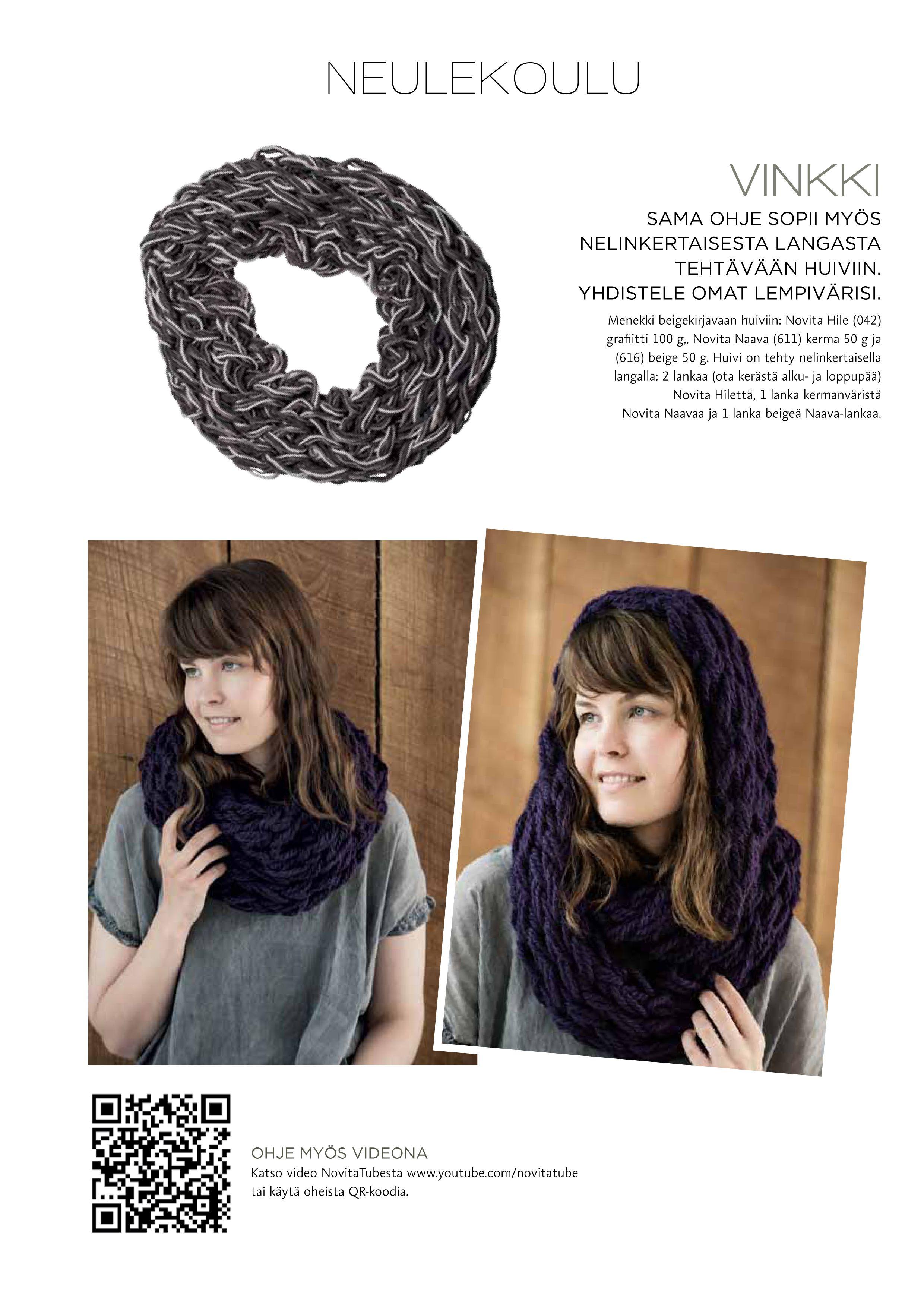 Armknitting-huivi Novita Pehmo tai Novita Kiille   Novita knits