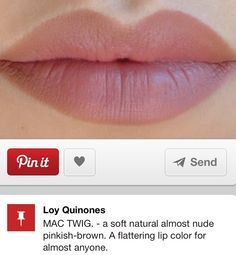 Mac spice liner + Twing lipstick. NY'X twig is a 100% dupe for ...