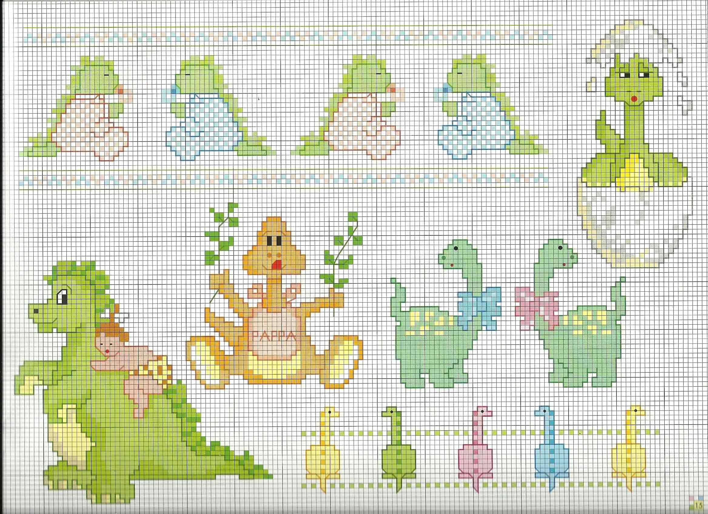 Schemi punto croce animali per bambini con piccoli for Punto croce schemi bambini