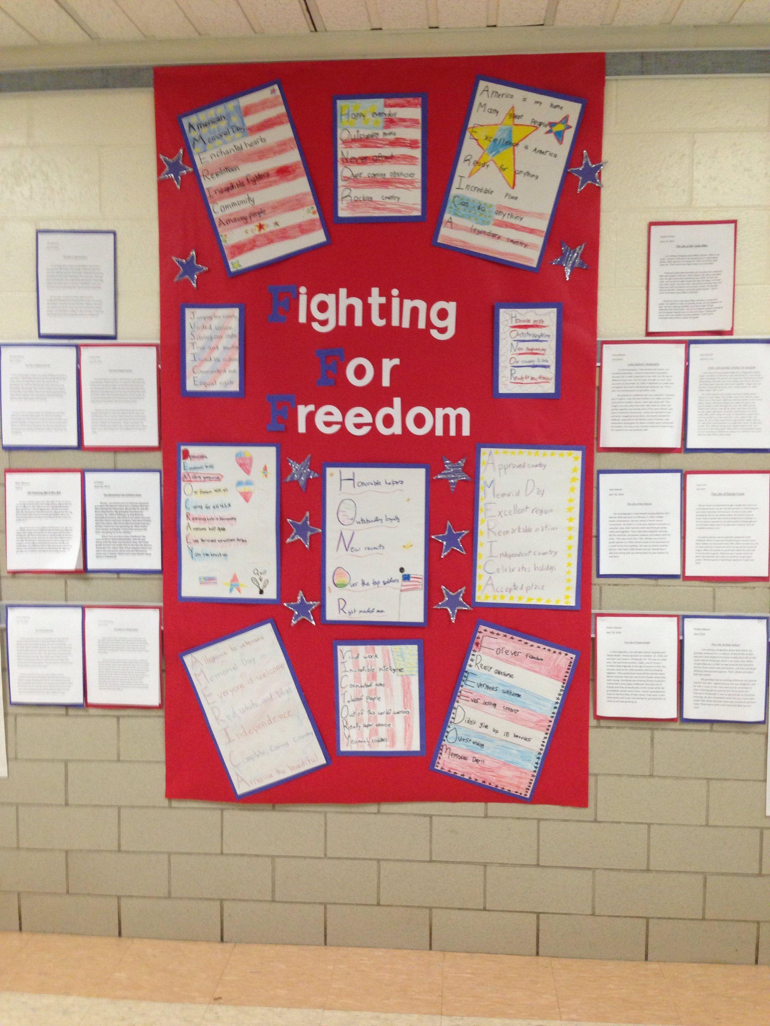Patriotism And Memorial Day Acrostic Poems