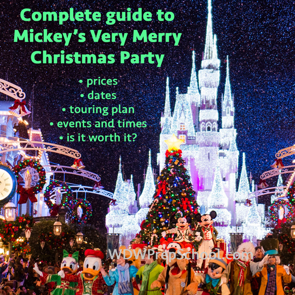 Guide to Mickey's Very Merry Christmas Party for 2016 | Prep school
