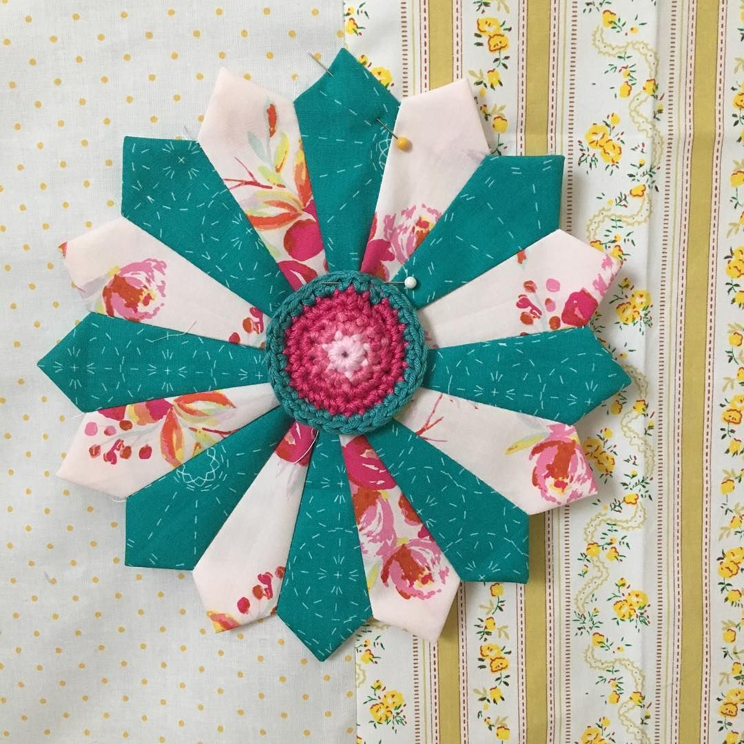 Love combining crafts #barijquiltalong #crochet #sewing  @larn36 @southerncharmquilts