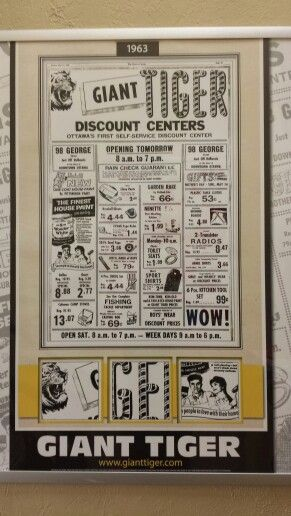 Old Giant Tiger Flyer Flyer Tiger Store Cleveland Ohio