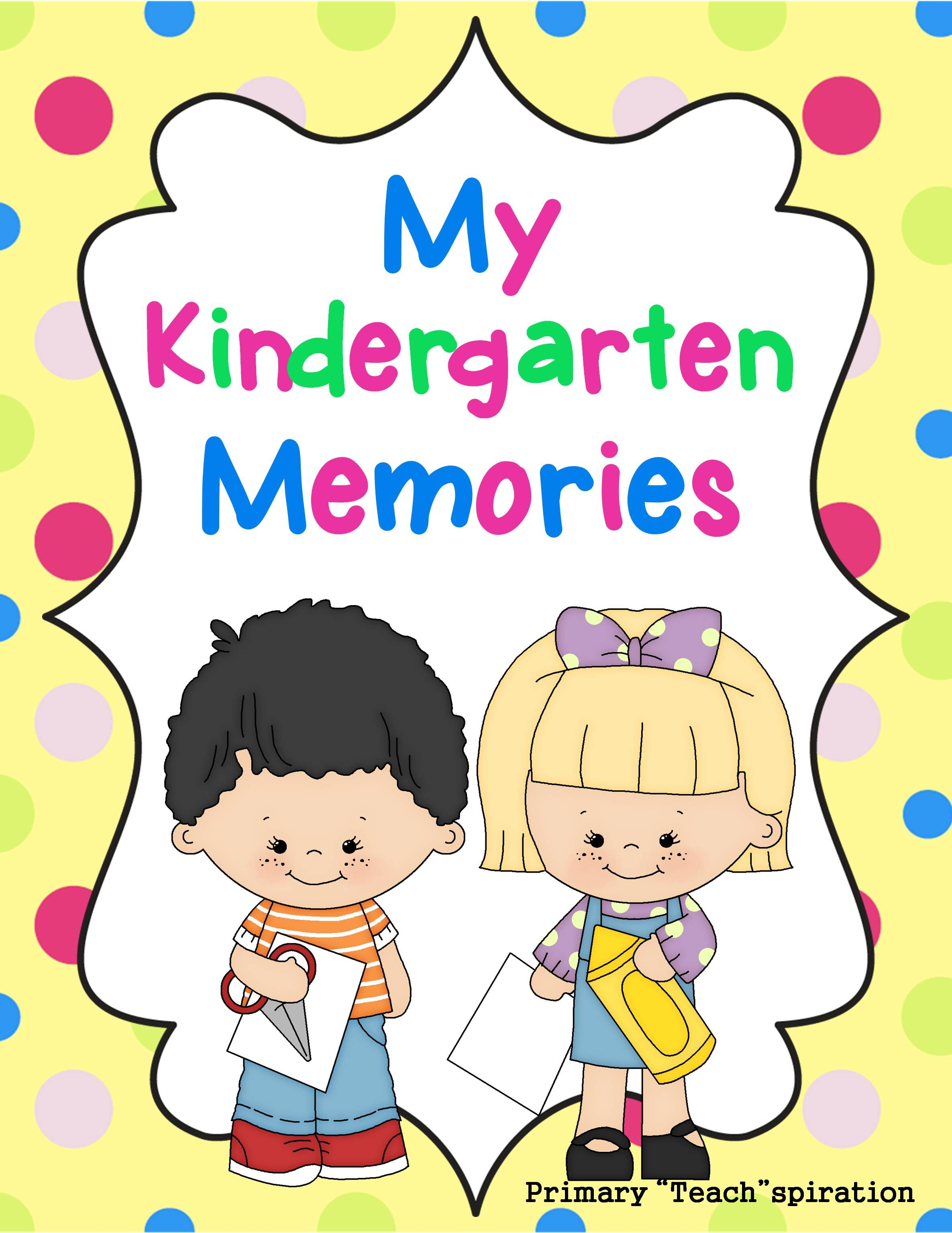 End Of Year Memory Book Kindergarten