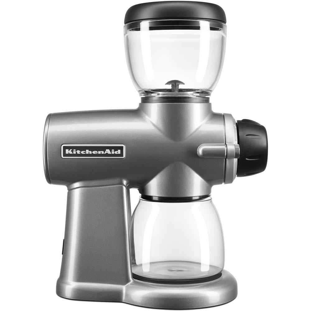 Kitchenaid 7 oz contour silver burr coffee grinder with
