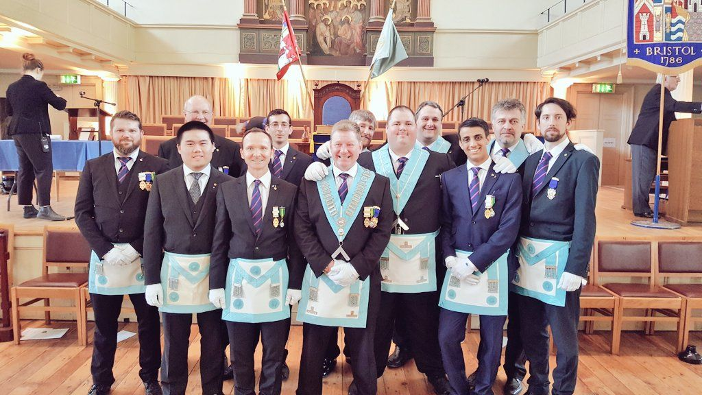 "bigroo on Twitter: ""Members of @TheDunckerleys @PGL_Bristol who were escorts for #Brethren receiving appointments or promotions at #Provincial #Grand #Lodge https://t.co/AVIfB01A7J"""